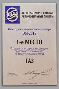 Марка ГАЗ стала лидером рейтинга удовлетворенности автомобильных дилеров